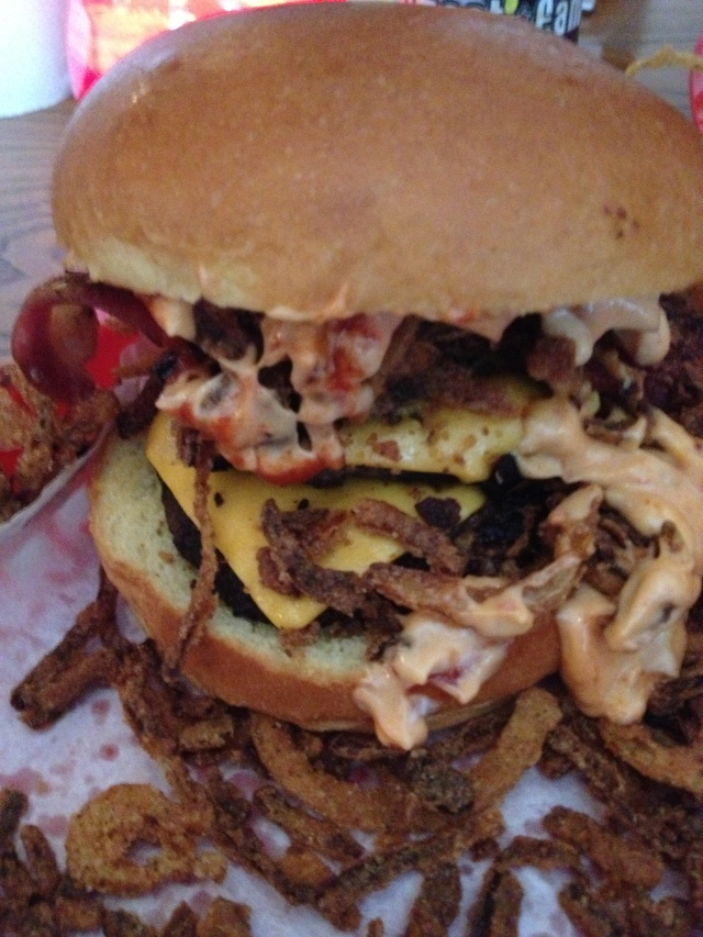 Almost Famous 4 Smokey & the Bandit burger