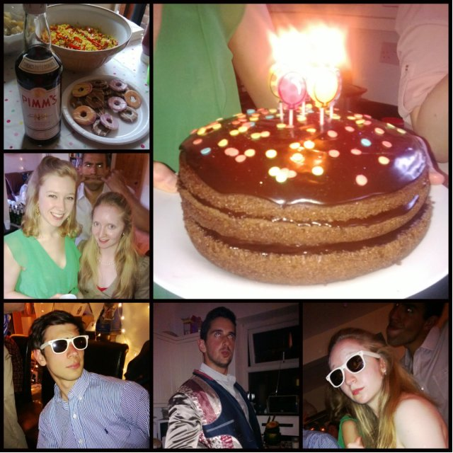 Ellen's party collage