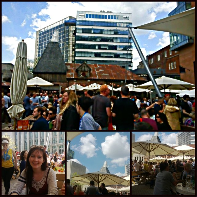 Oast house collage