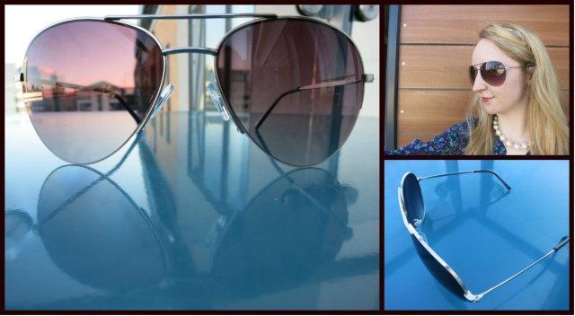 Accessorize Half Frame Brushed Metal Aviator Sunglasses