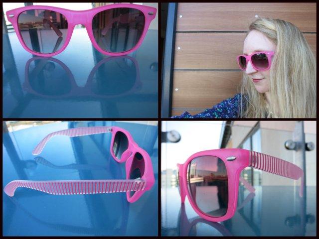 Accessorize Neon Stripe Flat Top Sunglasses