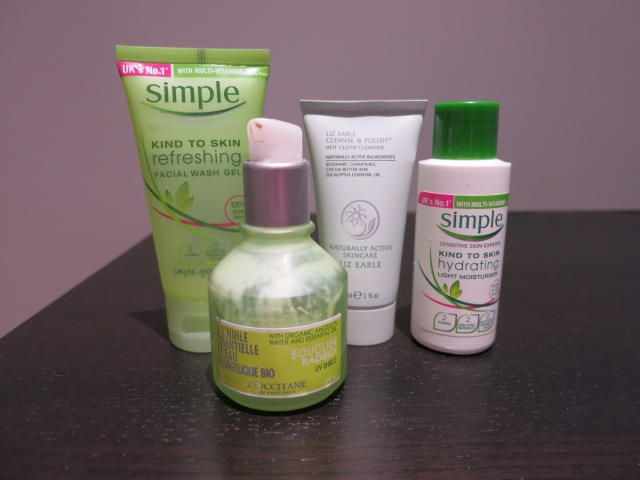 Whats in my wash bag skin care