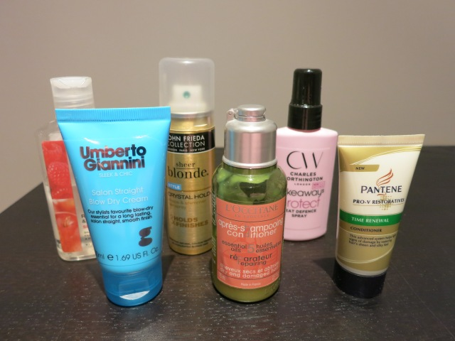 Whats in my wash bag hair care