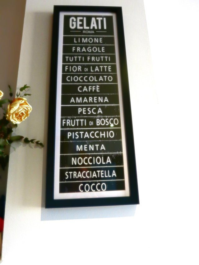 Italian ice cream sign