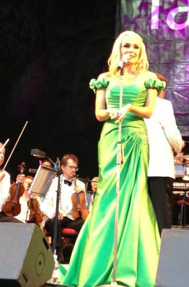 Katherine Jenkins dress