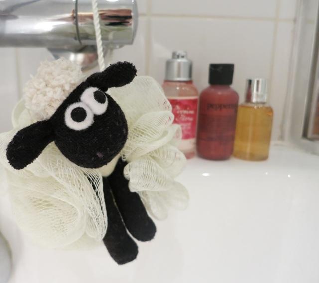 Shaun the sheep shower flower