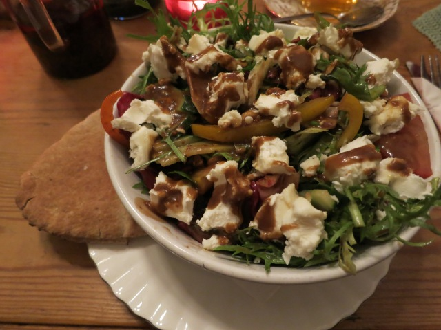 the art of tea didsbury goat's cheese salad