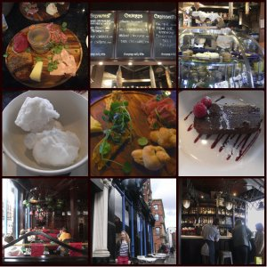 the blue pig collage