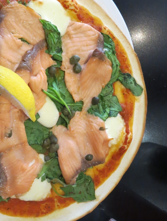Dough Manchester Smoke Salmon pizza