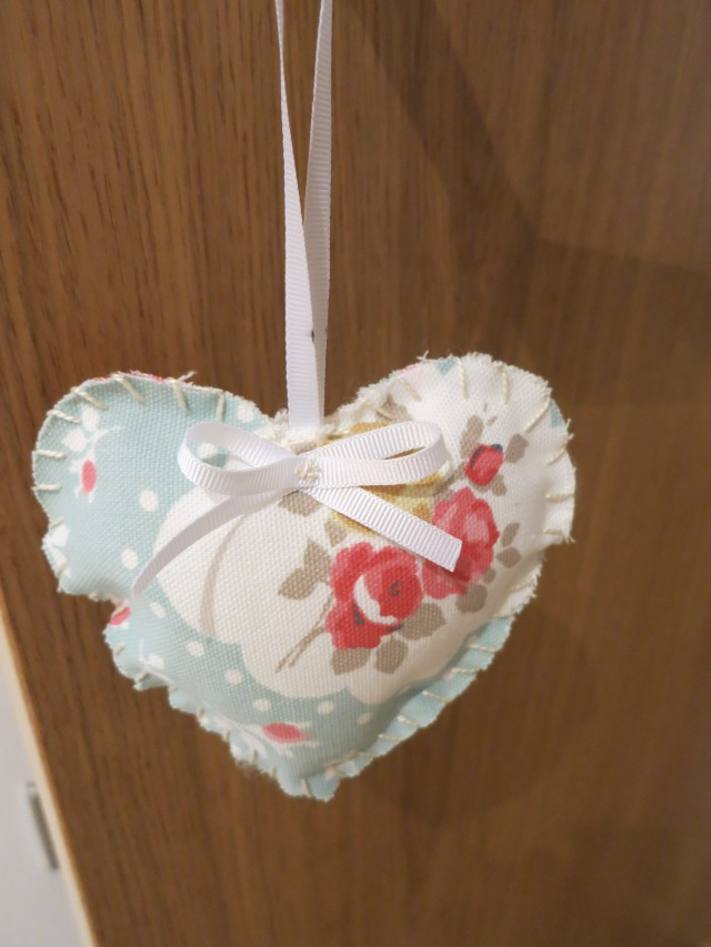 Papermoons fabric hanging heart