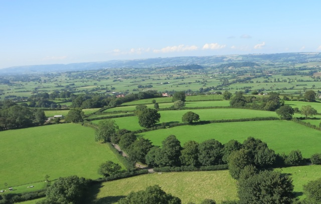 View of Somerset from the Glastonbury Tor