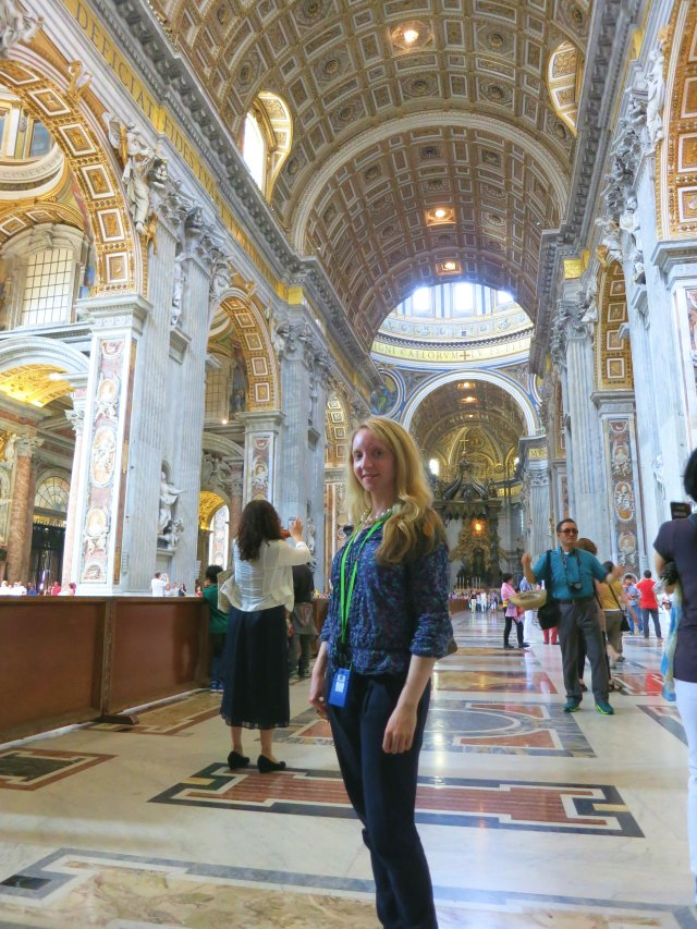 Lucy in St Peter's Basilica