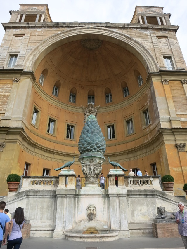 Vatican City pinecone statue