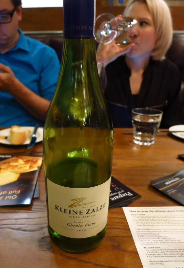 Kleine Zalze South African  white wine cheese and wine evening
