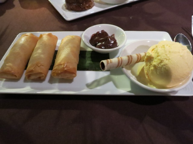 ocean treasure custard spring rolls