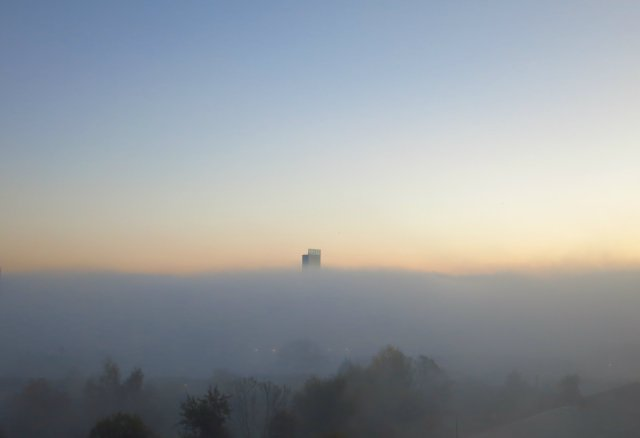 Manchester mist Beetham Tower